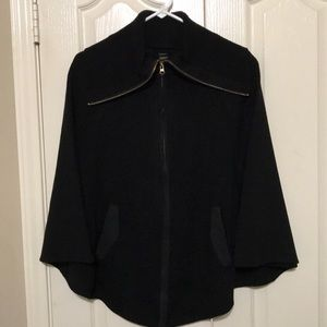 Mixit Black Cape Ponch-style Sweater One Size NEW